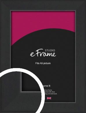 Contemporary Off Black Picture Frame, A5 (148x210mm) (VRMP-1306-A5)