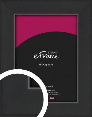 Contemporary Off Black Picture Frame, A6 (105x148mm) (VRMP-1306-A6)