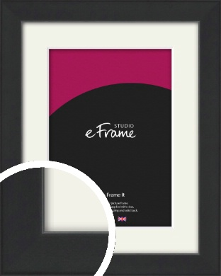 Contemporary Off Black Picture Frame & Mount (VRMP-1306-M)