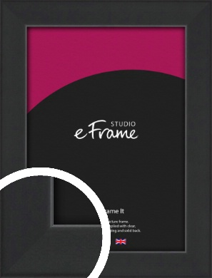Contemporary Off Black Picture Frame (VRMP-1306)