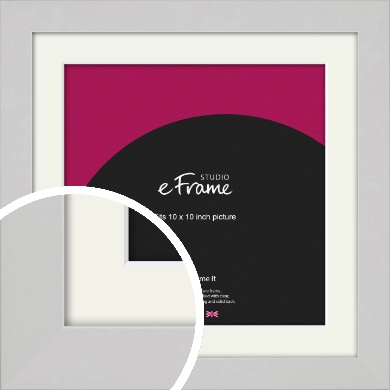 Flat Gallery White Picture Frame & Mount, 10x10