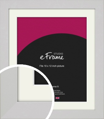 Flat Gallery White Picture Frame & Mount, 10x12