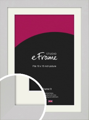 Flat Gallery White Picture Frame & Mount, 10x15