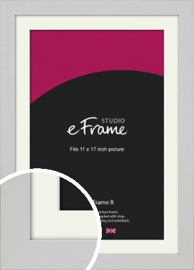 Flat Gallery White Picture Frame & Mount, 11x17