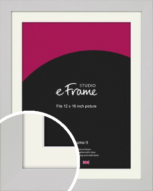 Flat Gallery White Picture Frame & Mount, 12x16