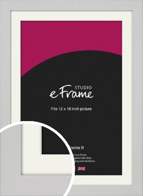 Flat Gallery White Picture Frame & Mount, 12x18