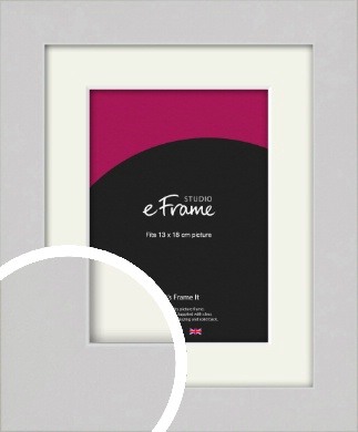 Flat Gallery White Picture Frame & Mount, 13x18cm (5x7