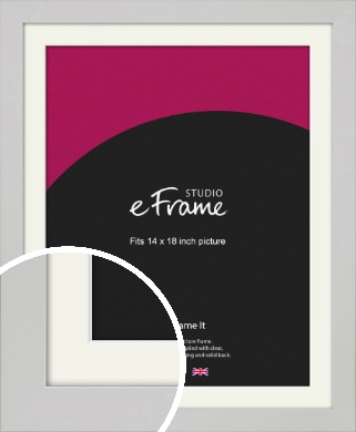 Flat Gallery White Picture Frame & Mount, 14x18