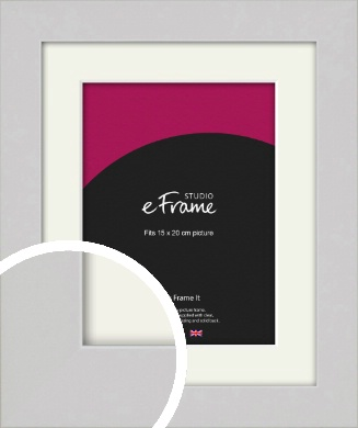 Flat Gallery White Picture Frame & Mount, 15x20cm (6x8