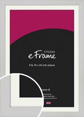Flat Gallery White Picture Frame & Mount, 16x24