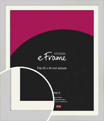 Flat Gallery White Picture Frame & Mount, 20x24