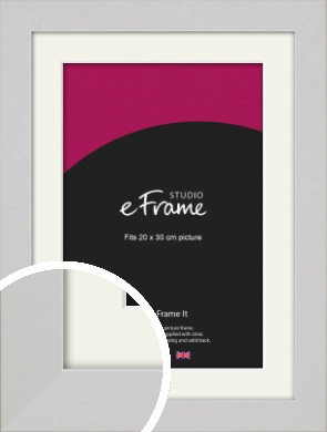Flat Gallery White Picture Frame & Mount, 20x30cm (8x12