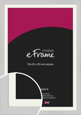 Flat Gallery White Picture Frame & Mount, 20x30