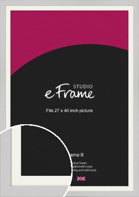 Flat Gallery White Picture Frame & Mount, 27x40