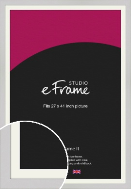 Flat Gallery White Picture Frame & Mount, 27x41