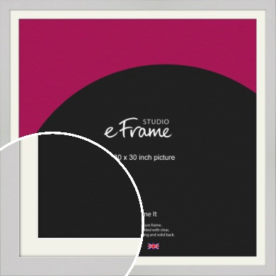 Flat Gallery White Picture Frame & Mount, 30x30