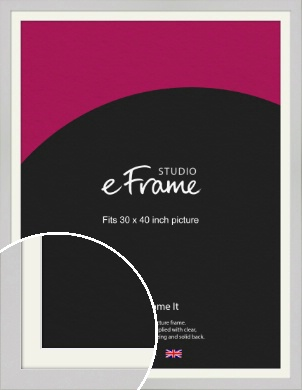 Flat Gallery White Picture Frame & Mount, 30x40