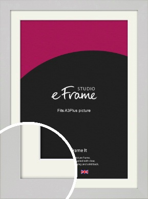 Flat Gallery White Picture Frame & Mount, A3Plus (VRMP-1307-M-329x483mm)