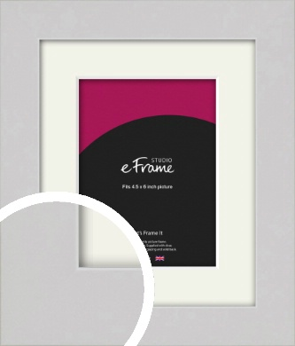 Flat Gallery White Picture Frame & Mount, 4.5x6