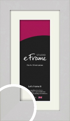 Flat Gallery White Picture Frame & Mount, 4x10