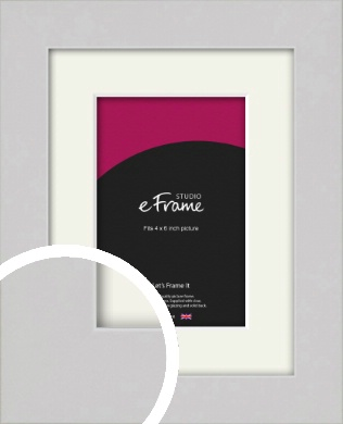 Flat Gallery White Picture Frame & Mount, 4x6