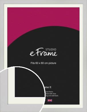 Flat Gallery White Picture Frame & Mount, 60x80cm (VRMP-1307-M-60x80cm)