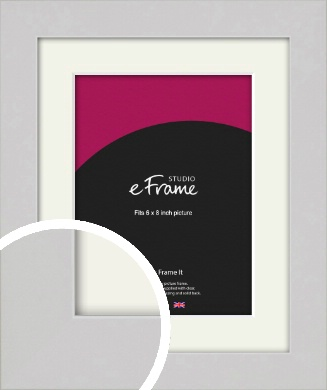 Flat Gallery White Picture Frame & Mount, 6x8