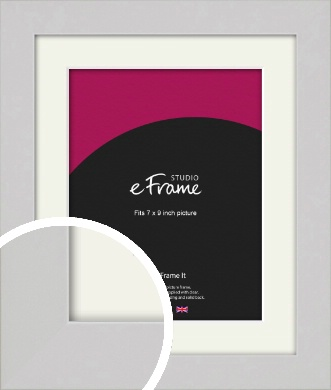 Flat Gallery White Picture Frame & Mount, 7x9
