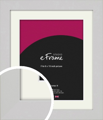 Flat Gallery White Picture Frame & Mount, 8x10