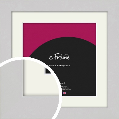 Flat Gallery White Picture Frame & Mount, 8x8