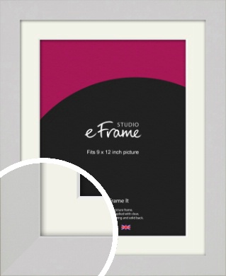 Flat Gallery White Picture Frame & Mount, 9x12