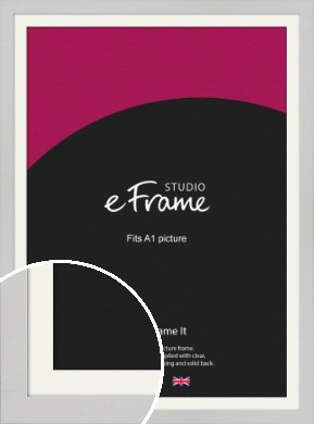 Flat Gallery White Picture Frame & Mount, A1 (594x841mm) (VRMP-1307-M-A1)