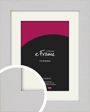 Flat Gallery White Picture Frame & Mount, A5 (148x210mm) (VRMP-1307-M-A5)