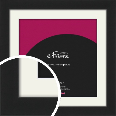 Iconic Gallery Black Picture Frame & Mount, 10x10