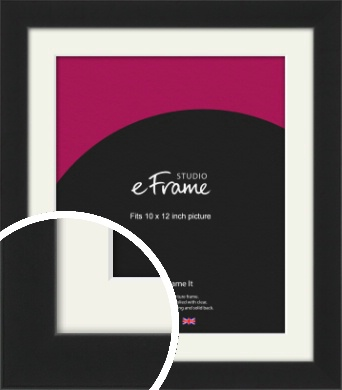 Iconic Gallery Black Picture Frame & Mount, 10x12