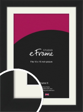 Iconic Gallery Black Picture Frame & Mount, 10x15
