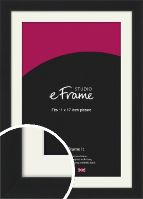Iconic Gallery Black Picture Frame & Mount, 11x17