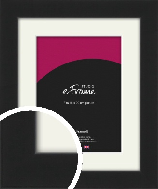 Iconic Gallery Black Picture Frame & Mount, 15x20cm (6x8