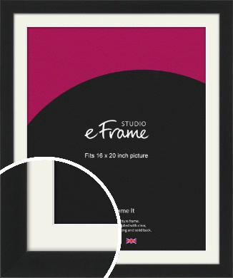 Iconic Gallery Black Picture Frame & Mount, 16x20