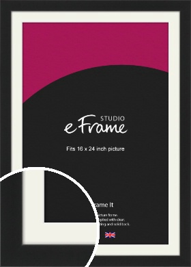 Iconic Gallery Black Picture Frame & Mount, 16x24