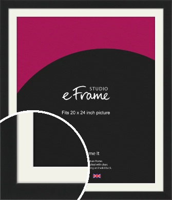 Iconic Gallery Black Picture Frame & Mount, 20x24
