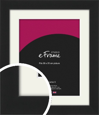 Iconic Gallery Black Picture Frame & Mount, 20x25cm (8x10