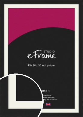 Iconic Gallery Black Picture Frame & Mount, 20x30
