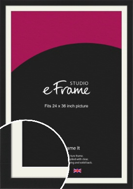 Iconic Gallery Black Picture Frame & Mount, 24x36