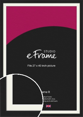 Iconic Gallery Black Picture Frame & Mount, 27x40