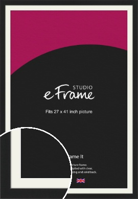 Iconic Gallery Black Picture Frame & Mount, 27x41