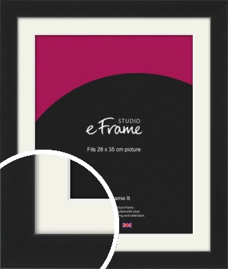 Iconic Gallery Black Picture Frame & Mount, 28x35cm (VRMP-1308-M-28x35cm)