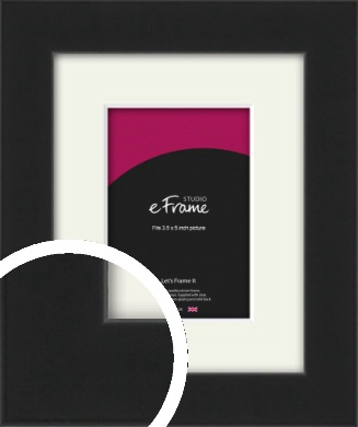 Iconic Gallery Black Picture Frame & Mount, 3.5x5