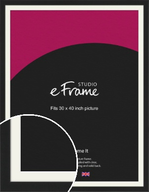 Iconic Gallery Black Picture Frame & Mount, 30x40