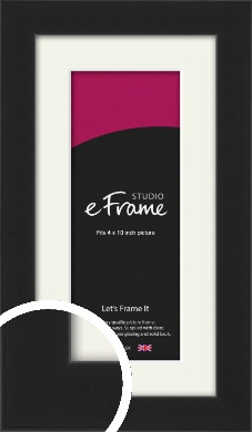 Iconic Gallery Black Picture Frame & Mount, 4x10